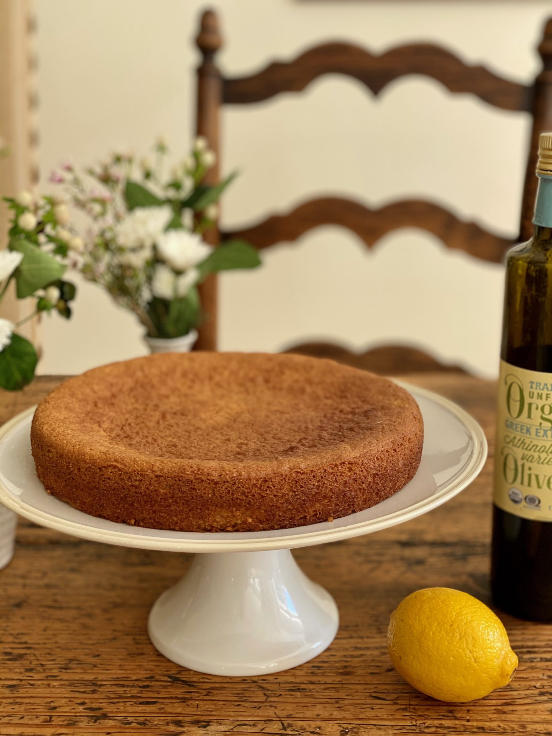 Olive oil lemon cake