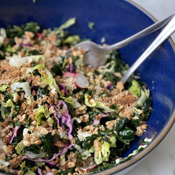 Mixed chopped kale salad