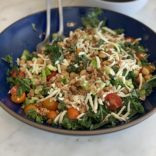 Italian kale salad with balsamic vinaigrette