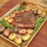 Balsamic flank steak and baby potatoes
