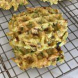 Hash brown zucchini waffles