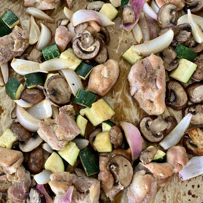 1 tray bake asian chicken and veggies