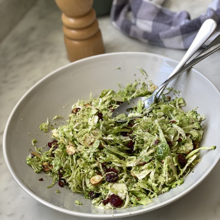 Broccoli Brussels sprouts slaw