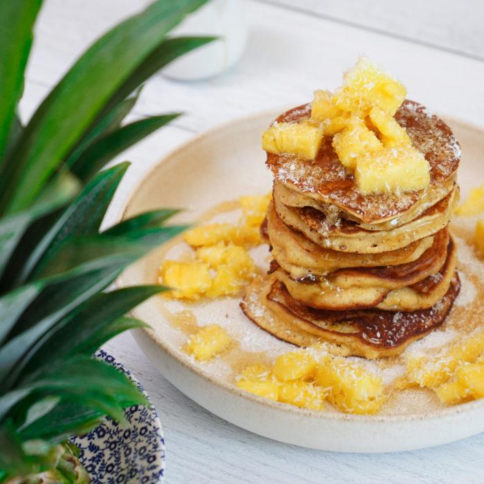 Pińa colada pancakes