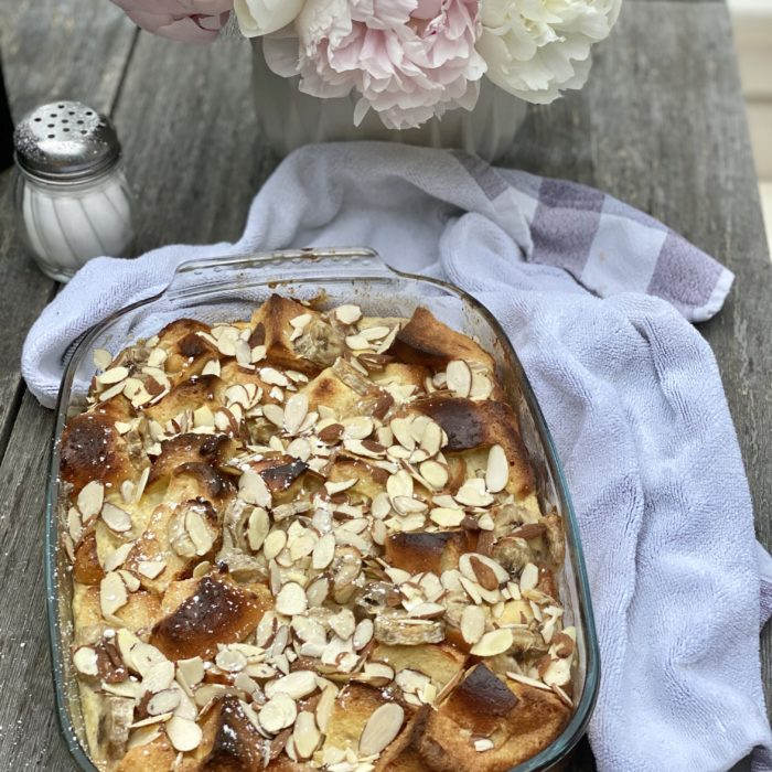 Banana ricotta french toast casserole