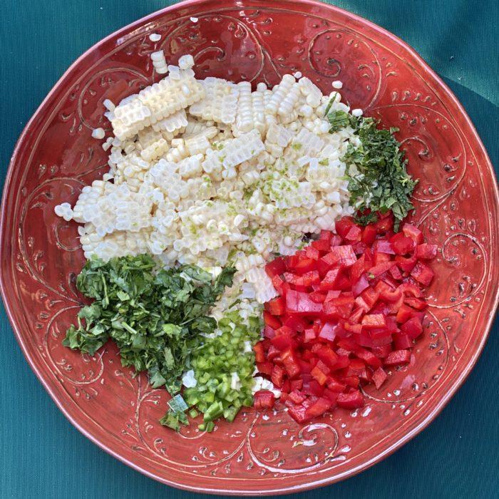 Summery fresh corn salad