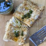 Lemony herby grilled fish