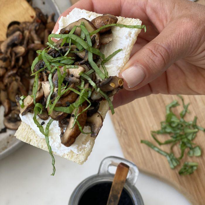 Ricotta mushroom toasts