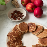 Fall apple oat pancakes