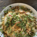 Shaved fennel, apple and pear salad