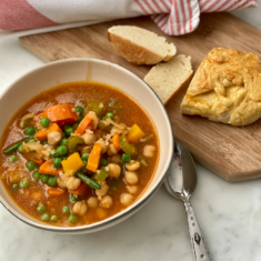 Winter minestrone in pressure cooker