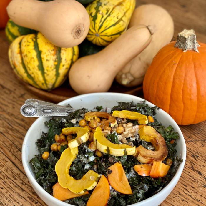 Thanksgiving inspired kale salad