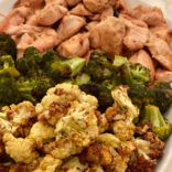 Honey garlic chicken and broccoli sheet pan