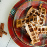 Gingerbread pumpkin waffles