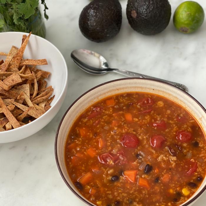 Insta Pot tortilla soup
