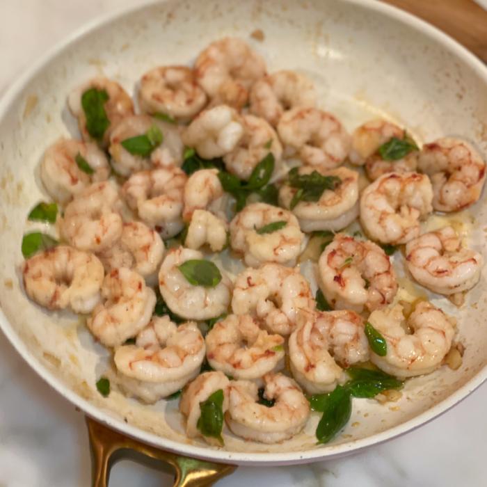 Basil shrimps