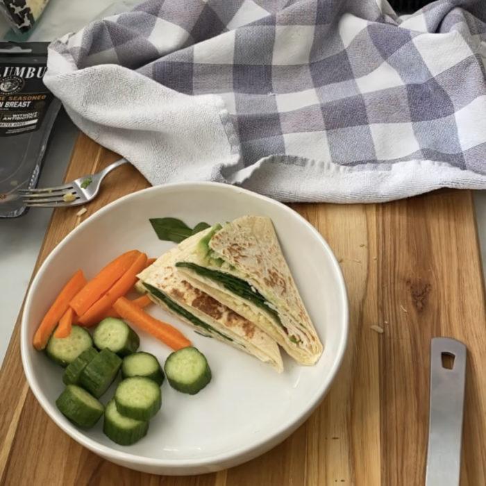 Wrap panini style