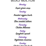 Weekly meal plan 01/04