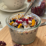 Coconut date chia seed pudding