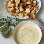 NYT cauliflower rosemary soup