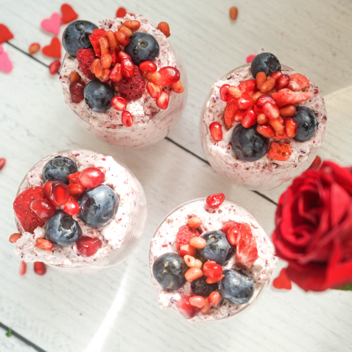 Mixed berries mousse