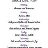 Weekly meal plan 02/08