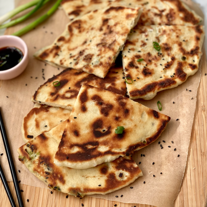 Scallion sesame pancakes