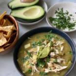 Easy green enchiladas soup