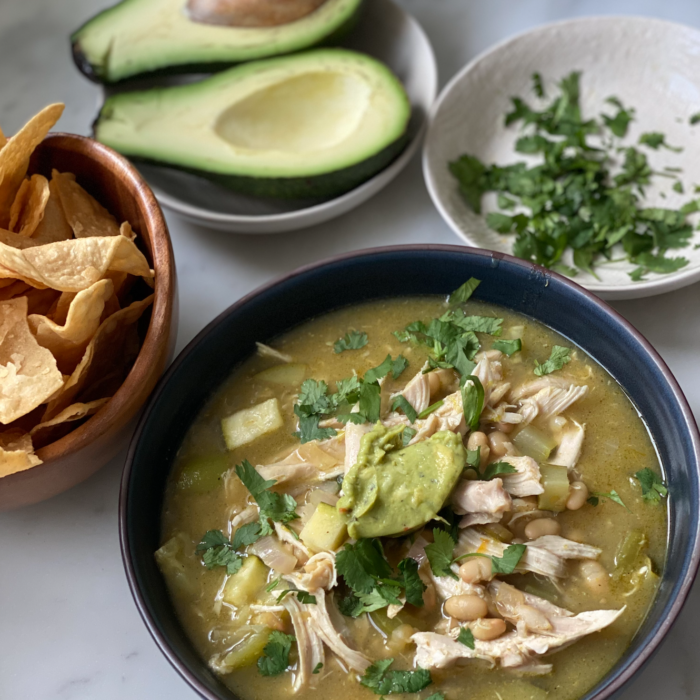 Easy green enchiladas soup