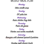 Weekly meal plan 03/15