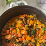 Veggie loaded Moroccan tagine