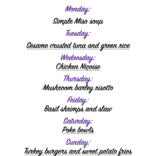 Weekly meal plan 04/05