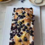 Lemon almond blueberry cake
