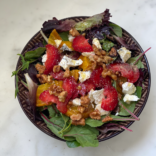 Spring strawberry and feta salad with lemon vinaigrette