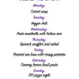 Weekly meal plan 05/17