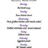 Weekly meal plan 05/24