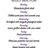 Weekly meal plan 05/30