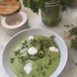 Sweet pea avocado soup
