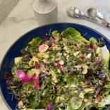 Crunchy spring green salad