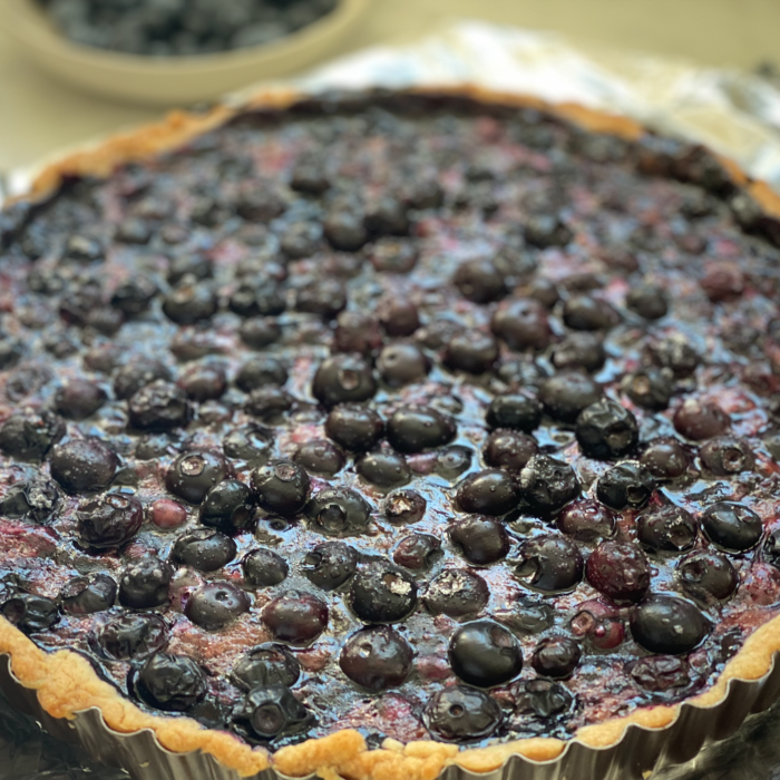 Father's Day blueberry tart