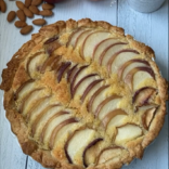 Summery peach frangipane tart