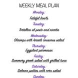 Weekly meal plan 08//16