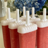 Watermelon lime strawberry popsicles